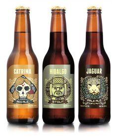 Cerveceria Hacienda's Cantina, Jaguar and Hodalgo beer bottles.