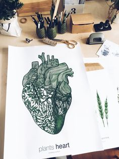 print PLANTSHEART  margohupert.pl