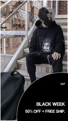 CLP. BLACK WEEK 2020 Edgy Outfits, Grunge Outfits, Urban Outfits, Boy Fashion, Fashion Outfits, Korean Fashion Men, Fashion Tips, Skater Girl Outfits, Vetement Fashion