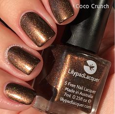 Lilypad Lacquer Coco Crunch, from The Fall Collection. Relased Fall/Winter 2015 (pinned from Almost Famous Nails)