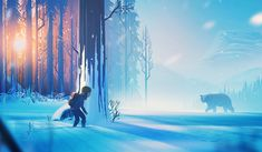 ArtStation - The Girl and the Bear, Mikael Gustafsson