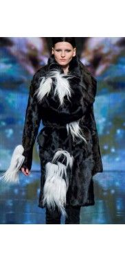 Donna-Karan-Persian-Lamb-Real-Fur-Jacket-Dress-Coat-Runway