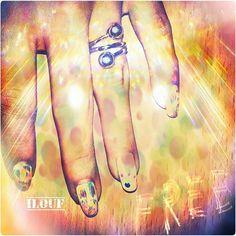 #instgrame : Nails_ilouf #nails #beautiful hands #nailart #summer