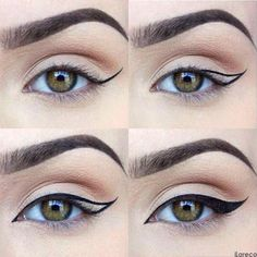 Ideas eye makeup drawing winged liner for 2019 Cat Eye Tutorial, Winged Eyeliner Tutorial, Winged Liner, Perfect Winged Eyeliner, Makeup Goals, Makeup Tips, Beauty Makeup, Makeup Geek, Makeup Ideas