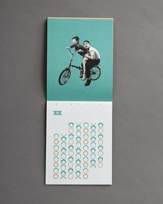 Not your average pin-up calendar, this promotional piece for French-Canadian neighborhood restaurant, Edgar, keeps the classic concept classy. The true sex symbols in this package are the flirtatious grids.