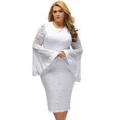Plus Sized Bodycon lace Party Dresses at Bling Brides Bouquet Online Bridal Store.