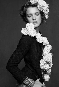 Natalia Vodianova photographed by Karl Lagerfeld in Chanel