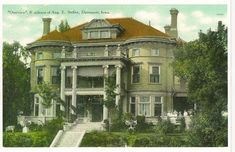 The Overview Mansion - Davenport, Iowa. The Overview was built for August E. Steffen Jr. from plans dated July 15, 1901. Designed by one of the Davenport's most prominent architectural firms, Clausen and Burrows,.