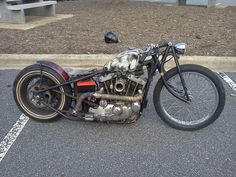 Custom rat rod motorcycle