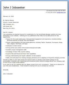 social media manager cover letter sample - Social Media Manager Cover Letter