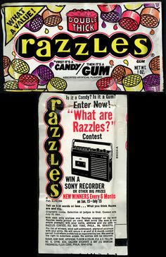 1983 Razzles, one of my favorite candies!
