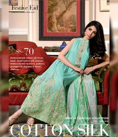 Gul Ahmed Trencia Satin Silk Festive Collection 2015 SS-70