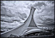 Stade Olympique, Montréal Tower, Explore, Building, Travel, Tatoo, Voyage, Lathe, Buildings, Towers