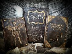 DIY halloween books| Better After. Real directions for dIY Halloween Spell books.  By Better After