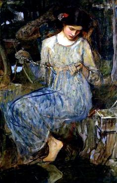The Necklace (study) by John William Waterhouse