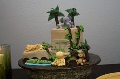 Jungle Theme Baby  Shower Cake By MandaMoh3 on CakeCentral.com