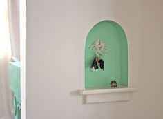 We painted this little nook for our key spot