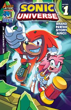 """""""Shattered,"""" Part One. A brand new adventure starring Knuckles and Amy Rose begins here! It's a race against time to find the final Master Emerald shards before Sonic restores the shattered world! The"""