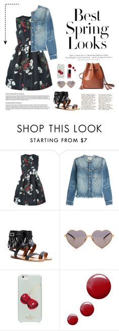 """""""Best Spring Look!"""" by hielevencom ❤ liked on Polyvore featuring RED Valentino, H&M, Current/Elliott, Valentino, Wildfox, Kate Spade, Chanel, Topshop, women's clothing and women's fashion"""
