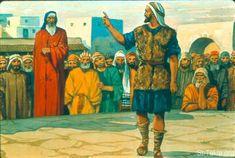 St-Takla.org Image: Amos speaks to Amaziah the priest (Amos 7:14-17) صورة في موقع الأنبا تكلا: عاموس يكلم امصيا الكاهن (عاموس 7: 14-17)