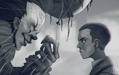 "14.8k Likes, 228 Comments - The Geek Realm ✌ (@thegeekrealm) on Instagram: ""Pennywise vs Eleven - Who Wins? ""Stranger It"" by Dmitry Sheshko @dsheshko.art ---------------…"""