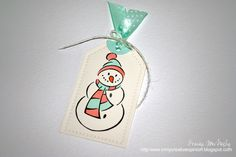 25 Days of Holiday Tags - Day 11 25 Days Of Christmas, Christmas Tag, Christmas Ornaments, Small Gifts, Snowman, Wraps, Paper Crafts, Holiday Decor, Creative