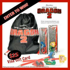 DreamWorks releases HOW TO TRAIN YOUR DRAGON 2 to theaters 6/13/14 - enter to win a $25 Visa gift card & HTTYD2 Swag! #giveaway #movies #animation