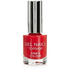 Topshop Gel Nail Colour in Triumph ($9.91) ❤ liked on Polyvore featuring beauty products, nail care, nail polish, polishing kit, gel polish kit, gel nail color and manicure kit