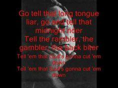Johnny Cash - God's Gonna Cut You Down Lyrics (HQ)