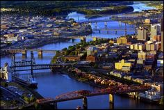 Oregon Love #2 - The bridges of Portland - St. Johns, Fremont, Broadway, Steel, Burnside, Morrison, Hawthorne, Marquam, Ross Island and Sellwood