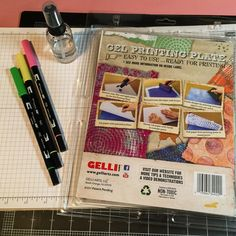 I will be using a Gel Printing Plate, Tombow markers, water and Canadian Scrapbooker Super Stock. The Canadian Scrapbooker Super Stock works best because it is so strong and can hold up to the amount of wet media used on this project.