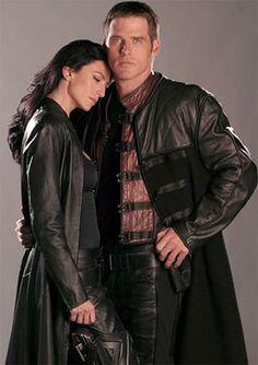 Claudia Black and Ben Browder - Farscape
