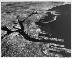 "Aerial view of Los Angeles Harbor facing east, Terminal Island, San Pedro, Wilmington :: ""Dick"" Whittington Photography Collection, 1924-1987"
