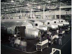 Tech Chick on the Douglas Aircraft assembly line