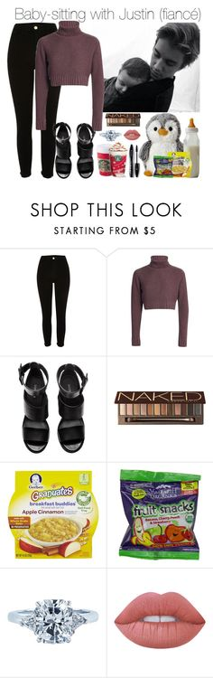 """""""Baby-Sitting with my Fiancé Justin"""" by ghizlanewilde ❤ liked on Polyvore featuring H&M, Urban Decay, Gerber, Tiffany & Co., Lime Crime and Lancôme"""