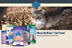 Blue Buffalo All Natural Cat Food, Treats & Litter.