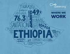 Ethiopia | 76.3 million people do not have access to improved sanitation facilities. | #WhereWeWork | Water.org