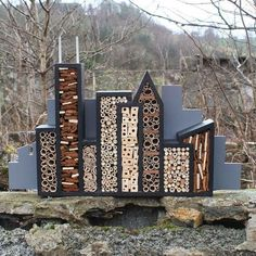 Garden art turned insect hotel... Gorgeous!  #bees #sustainable #life #conservation