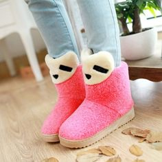 Winter Round Toe Stiletto Mid Heel Slip On Ankle Pink Suede Snow Boots_Boots_Womens Shoes_LovelyWholesale | Wholesale Shoes,Wholesale Clothing, Cheap Clothes,Cheap Shoes Online. - LovelyWholesale.com
