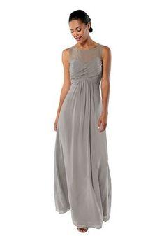c9e4553d8e48 Brideside Brideside Monica in Earl Grey Illusion Bridesmaid Dress  Bridesmaid Dress, Illusion, Chai,