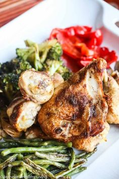Pan Roasted Chicken and Vegetables - this is an extremely versatile recipe that works with almost any vegetable and spice/herb mix
