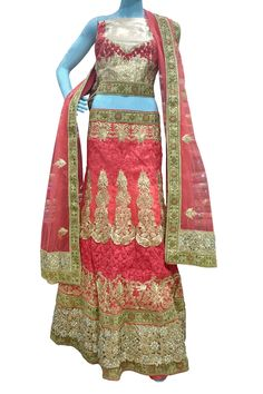 Buy Now Red Heavy Zari Work Net Wedding Semi-Stitch Lehenga Choli only at Lalgulal.com. Price :- 12,232/- inr. To Order :- http://goo.gl/lwLKNE COD & Free Shipping Available only in India.