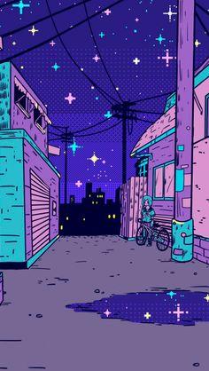 Wallpapers de Pixel Art Vaporwave | MariMoon