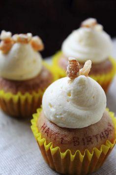 Mini Banana Cupcakes with Cream Cheese Icing