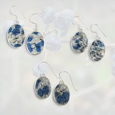 Maine Blueberry Stone Earrings
