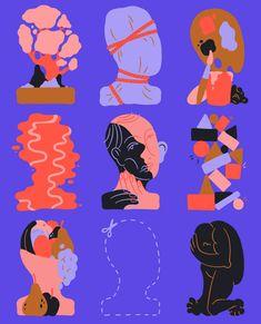 say hi to_ Sara Andreasson Art And Illustration, Graphic Design Illustration, Graphic Art, Carta Collage, Grafik Design, Graphic Design Inspiration, Oeuvre D'art, Art Inspo, Illustrators