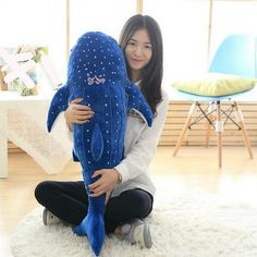 New Creativity Big Size Plush Toys 50Cm 100cm Plush Shark cloth Doll blue whale Doll kids. Click visit to buy