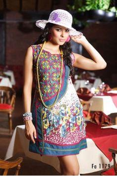 Multicoloured Printed Cotton Kurti