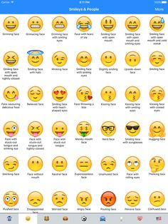 Emoji Meanings Dictionary List App Ranking and Store Data Emojis And Their Meanings, Emojis Meanings, Emoji Language, Sms Language, Emoji Names, Emoji Symbols, Names Of Emojis, English Vocabulary Words, Learn English Words
