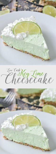 Low Carb Key Lime Cheesecake | http://www.motherthyme.com